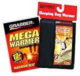 Grabber Warmers Grabber Fleece Sleeping Bag Warmer- Black with Free Grabber 12+ Hour Mega Warmer (Pack of 4)