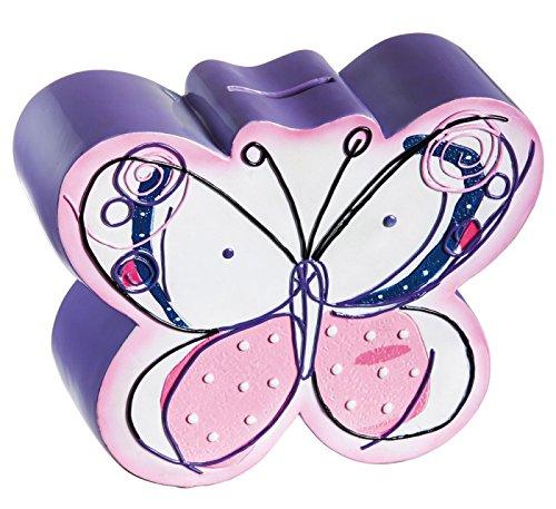 Purple Butterflies Coin Bank - 1