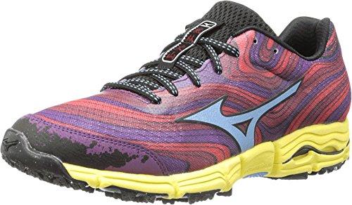 Mizuno Women's Wave Kazan Running Shoe,Chinese Red/Alaskan Blue/Purple Passion,8.5 B US