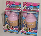 (2 Pack) Ice Cream Magic Personal Ice Cream Maker Chocolate Brown Lid
