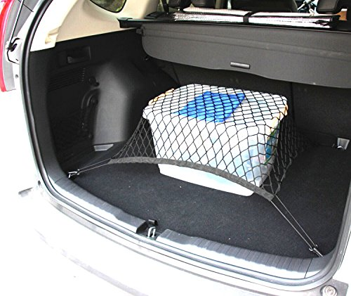 9 Moon® 4 Hook Car Universal Trunk Cargo Net Mesh Storage Organizer for Benz Toyota Mazda Audi Subaru Forester Outback Ford Edge Escape Expedition Explorer Flex Focus Fusion Windstar (Car Trunk Net Honda Accord compare prices)