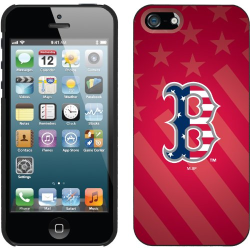 Best Price Boston Red Sox - USA Red design on a Black iPhone 5 Thinshield Snap-On Case by Coveroo