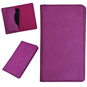 DCR Pu Leather case cover for Spice Pinnacle Pro (Mi-535) (pink)