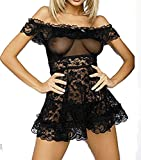 Alicelingerie Womens Pleated Lace Strap One Piece Sexy Lingerie