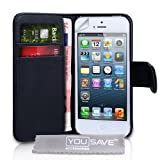 "iPhone 5 Real Original Echt Leder Brieftasche Tasche - Schwarzvon ""Yousave Accessories�"""