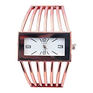 SUNTRANCE Gold Metal Strap Analog Watch For Girls