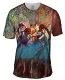 "Edgar Degas - ""Dancers in Blue"" (1895) -Tagless- Mens Shirt-Large"