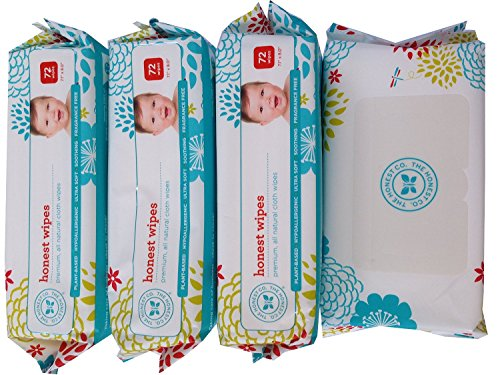 4 Pack - The Honest Company Wipes - 288 Wipes (4 Packages of 72 Ct) NewBorn, Kid, Child, Childern, Infant, Baby (Newborn Wet Wipes compare prices)