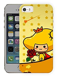 "Humor Gang Cartoon Girl With Rose Printed Designer Mobile Back Cover For ""Apple Iphone 5C"" (3D, Matte, Premium Quality Snap On Case)"