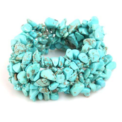 Yesurprise Turquoise Ladies Bangle Bracelet Unisex Gift