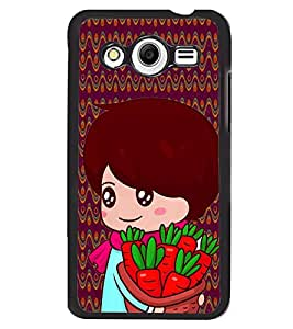 Fuson 2D Printed Girly Designer back case cover for Samsung Galaxy Core 2 - D4328