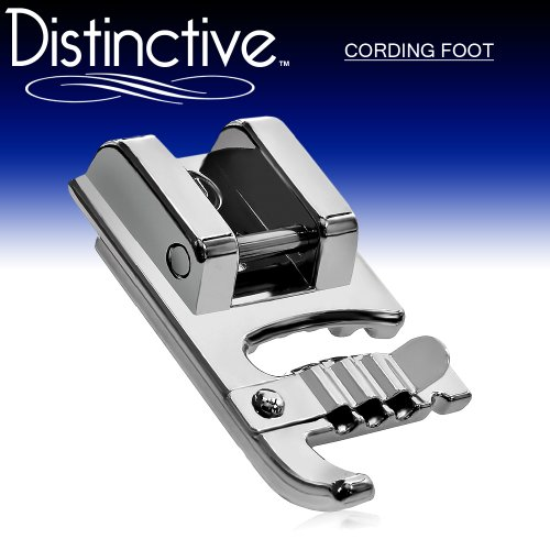 Distinctive Cording Sewing Machine Presser Foot - Fits All Low Shank Snap-On Singer*, Brother, Babylock, Euro-Pro, Janome, Kenmore, White, Juki, New Home, Simplicity, Elna and More! (Piping Foot For Sewing Machine compare prices)