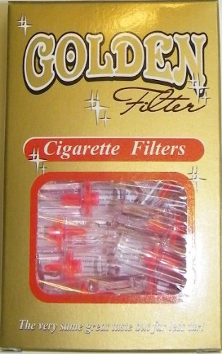 Golden Cigarette Filters! Get the Nic & Tar Out of Your Smoke! 20 Packs! (400 Filters Total!)