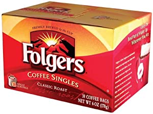Folgers Home Cafe Classic Roast Coffee, 38-Count Bags (Pack of 2)