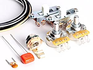 toneshaper guitar wiring kit for fender mustang white switches musical instruments. Black Bedroom Furniture Sets. Home Design Ideas