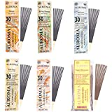 Auroma Agarbathies Auroville Wood Incense Stick (240 G,20 Cm, Pack Of 6) - B01HMX7E92