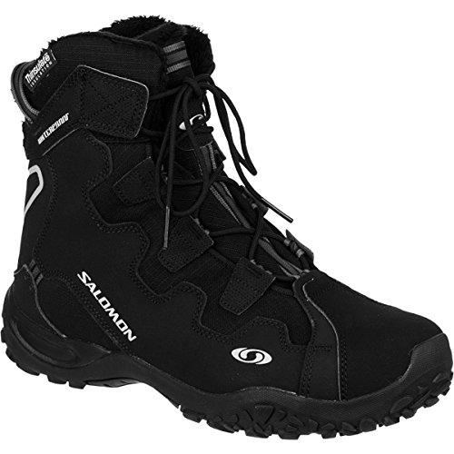 Salomon Men's Snowtrip TS WP Winter Shoe,Black/Black/Black,8.5 M US