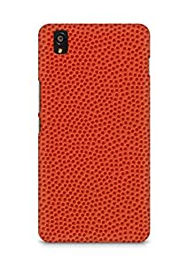 Amez designer printed 3d premium high quality back case cover for OnePlus X (Basketball Texture)