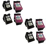 8 (4 SETS) Remanufactured HP 301XL Black & Tri-Colour Ink Cartridges Replacement for DeskJet 1000, 1050, 1050A, 1050S, 1055, 2000, 2050, 2050A, 2050S, 2050se, 2054A, 2510, 2540, 3000, 3010, 3050, 3050A, 3050S, 3050se, 3050ve, 3052A, 3054A, 3055A High C