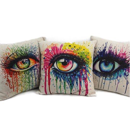 Cotton Blend Linen Throw Pillow Cushion Covers (Novel_I)
