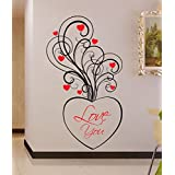 Decal Style Love Swirl Wall Sticker Large Size-23*41 Inch
