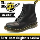 [ドクターマーチン]Dr.Martens ウィメンズ 8アイ ブーツ オリジナル 1460W ブラック スムース 8ホール #11821006[並行輸入品] 27.0(UK8/US10)
