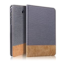 GoldCherry Samsung Galaxy Tab S2 8.0 Case - Auto Sleep/Wake, Card Pocket Folio Leather Case Cover for Galaxy Tab S2 Tablet 8.0 inch, SM-T710 Sm-t715 (Galaxy Tab S2 8.0 (T710), Black)