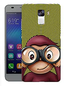 """Humor Gang Confused Quirky Monkey Printed Designer Mobile Back Cover For """"Huawei Honor 7"""" (3D, Matte, Premium Quality Snap On Case)"""