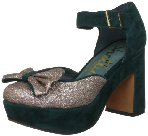 Shellys Women's Hollie Green Platforms Heels HOLLGRN38 5 UK
