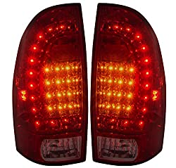See Replacement Rear 2nd Generation LED Tail Lights Red Lens For Toyota Tacoma Details