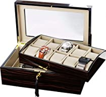 Auer Accessories Leda 110E Watch Box for 10 Watches Removable tray