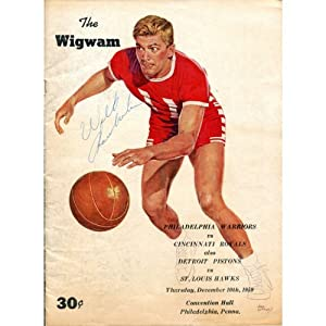 Buy Wilt Chamberlain Autographed The Wigwam Program (JSA) by Hollywood Collectibles