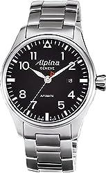Alpina Startimer Pilot Automatic Black Dial Steel Mens Watch AL-525B4S6B