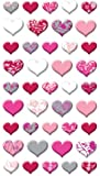 Puffy Dimensional Stickers-Lovely Hearts