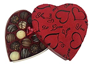 Chocolate Truffle Gift Box for Her, Beyond Delicious 18-pc Signature Chocolate Truffles in Velvet Heart Box