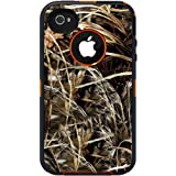 Otterbox Defender Realtree Series Hybrid Case & Holster for iPhone 4 & 4S - Retail Packaging - Blaze Orange/Max 4 Camo Pattern