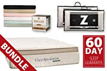 "Hot Sale Bed Boss 15"" Luxury Memory Foam Mattress Combo with Brushed Sheets, Protector, Pillows, and 60-day Guarantee Comparable to Tempurpedic Grand Bed (King)"