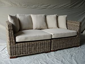 Sustainable Furniture Natural Wicker 2 Sectional Puri Sofa by Sustainable Furniture (UK) Ltd