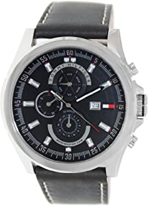 Buy Tommy Hilfiger Men s Chronograph Arlington Watch 1790730 Black Leather  Strap from Amazon at £125.84 8efd8d70a93