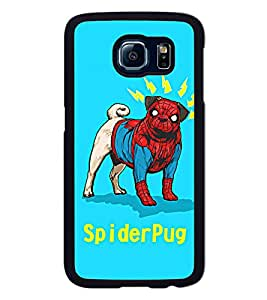 Go Yankee funny spiderpug Back Cover For Samsung galaxy s6