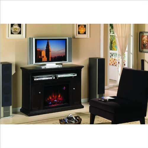 Cannes Wood Fireplace Entertainment Center (Espresso) photo B004C5R29Q.jpg