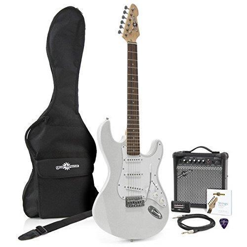 Kit chitarra elettrica LA + Amplificatore Argento