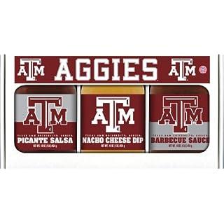 TEXAS A & M Aggies Triple Play BBQ Salsa Cheese