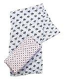 Plum Colecciones, toallitas plaza beb� muselina de algod�n, 2 uds., Tama�o XL, blancos (blanco), 110 x 110 cm