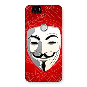Delighted Red Anonymous Mask Back Case Cover for Google Nexus-6P