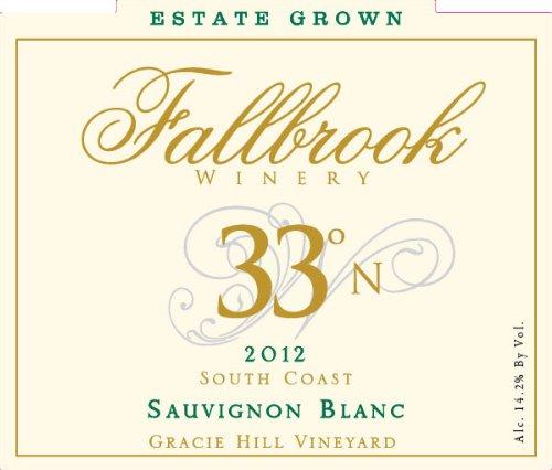 2012 Fallbrook Winery 33° North Sauvignon Blanc 750 Ml
