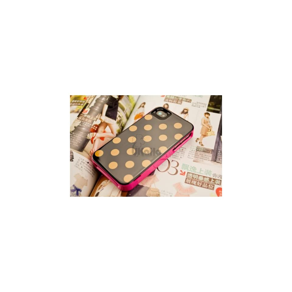 ProDesign DC Premium Hardshell Kate Spade Le Pavillion Polka Dots Snap Case Cover Protector for Apple iPhone 4G/4GS