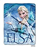 Disney Frozen Elsa --Disney® Frozen Throw - Disney's Frozen Elsa Palace 40 x 50 Silk-Touch Throw- Blankets and throws Microfiber with Big Pictures Olaf Frozen in bold, vibrant colors -Guaranteed!