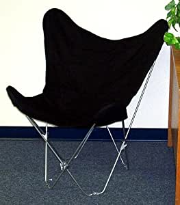 Amazon Solid Black Canvas Butterfly Chair Cover ly