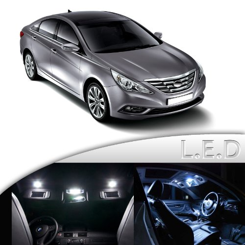 8 X White Led Interior Lights Package Kit For Hyundai Sonata 2011 All Models Inexpensive